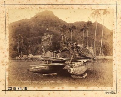 Photograph: Thakambau's Canoe - Nai - Koro Koro - Levuka - Fiji