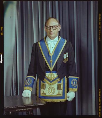 Negative: Mr B. H. Joyce Freemason Portrait