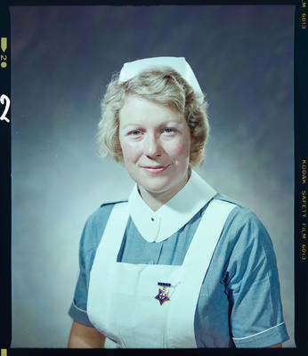 Negative: Miss C. R. Marr Nurse Portrait