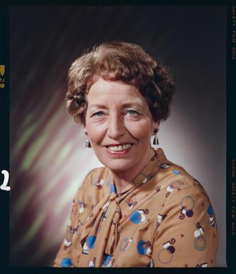 Negative: Mrs I. Maeers Headshot