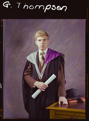 Negative: Mr G. F. Thompson Graduate