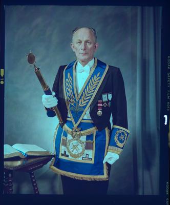 Negative: Mr Cotton Freemason Portrait