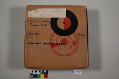 Box: records, gramophone