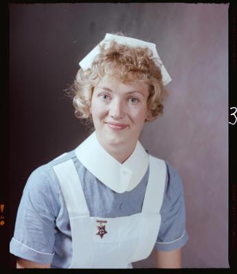 Negative: Miss M. Savage Nurse Portrait