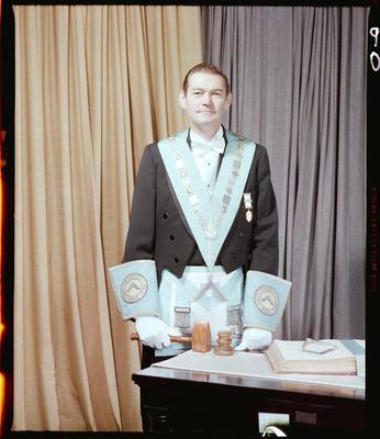 Negative: Mr D. J. Pope Freemason Portrait