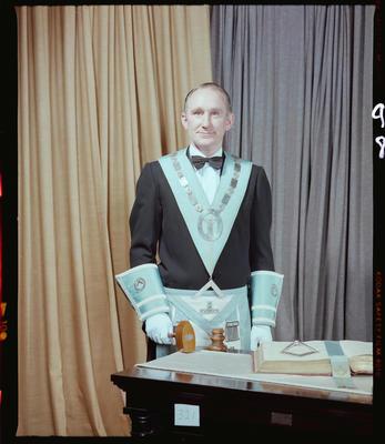 Negative: Mr D. A. Bennett Freemason Portrait