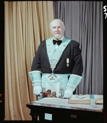 Negative: Mr G. P. L. Bretherton Freemason Portrait