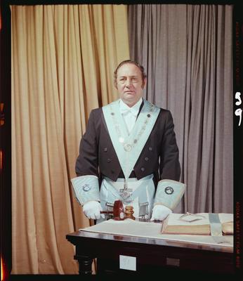 Negative: Mr I. A. Kitchingham Freemason Portrait