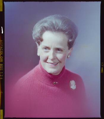 Negative: Mrs Cotton Portrait
