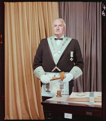 Negative: Mr D. I. Mehrtens Freemason Portrait