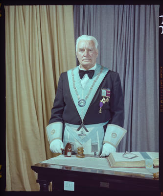 Negative: Mr J. Wilson Freemason Portrait