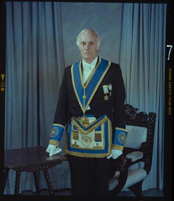 Negative: Mr W. H. Harris Freemason Portrait