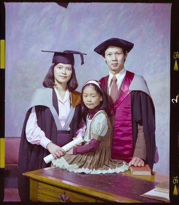 Negative: Teng Family Graduation Portrait