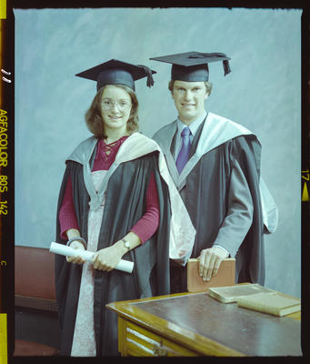 Negative: Mr Corskie and Unnamed Woman Graduates