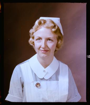 Negative: Miss J. A. Meharg Nurse Portrait