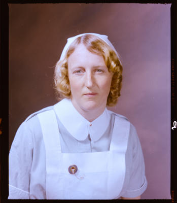 Negative: Miss S. Gray Nurse Portrait