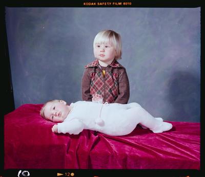 Negative: Mr Nicolaus Smith's Two Children