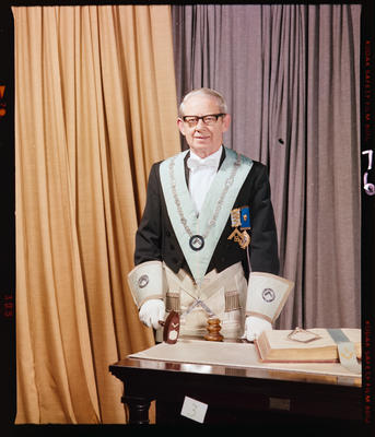 Negative: Mr F. Argue Freemason Portrait