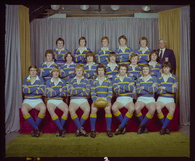 Negative: Lincoln College Under 19's Rugby 1979