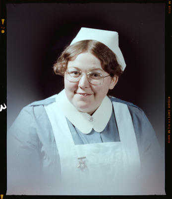 Negative: Miss Swap or Miss Wood Nurse Portrait