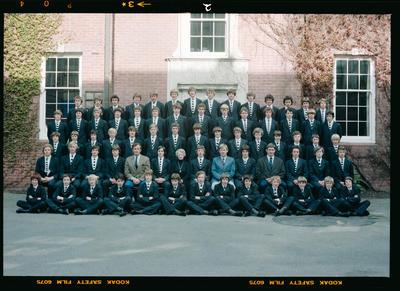 Negative: Christ's College Richards House 1979