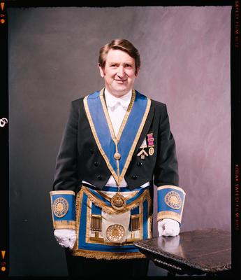 Negative: Mr Montagu Freemason Portrait