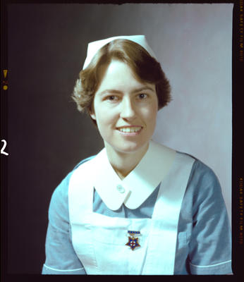 Negative: Miss D. M. Allison Nurse Portrait