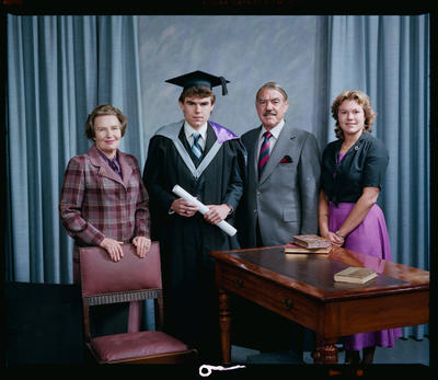 Negative: Mr Atkinson Graduate and Family