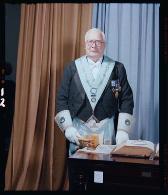 Negative: Worshipful Brother A. T. Campbell Freemason Portrait