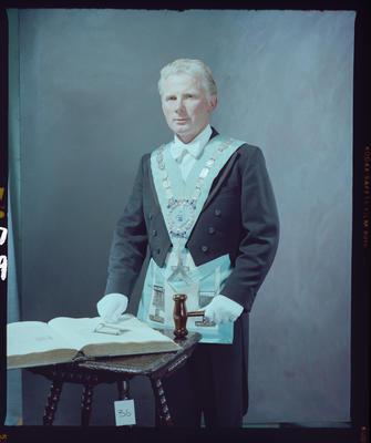 Negative: Worshipful Brother T. Hanton Freemason Portrait