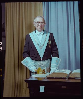 Negative: Worshipful Master T. Barnett Freemason Portrait