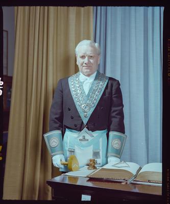 Negative: Worshipful Master A. L. Boyd Freemason Portrait