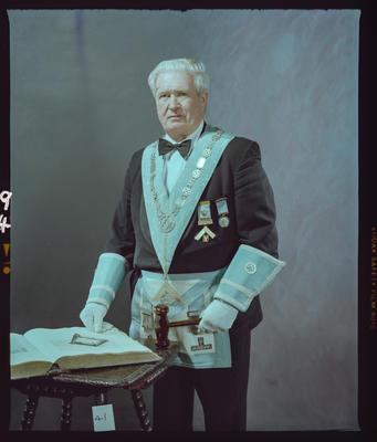 Negative: Worshipful Brother R. S. Hayes Freemason Portrait