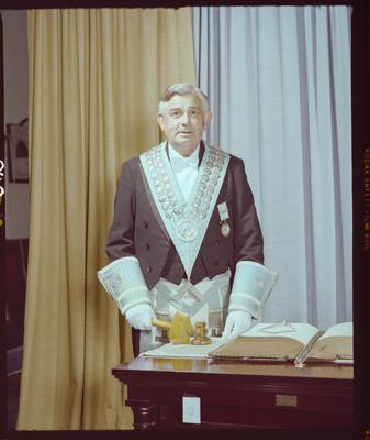 Negative: Worshipful Master R. D. Mercer Freemason Portrait