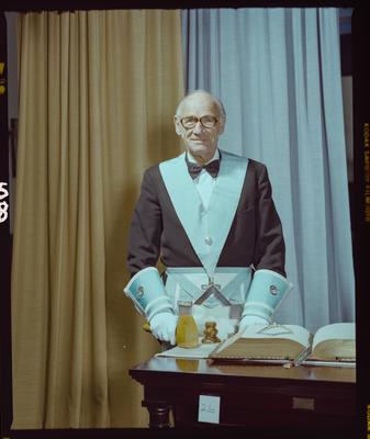 Negative: Worshipful Master L. R. Skinner Freemason Portrait