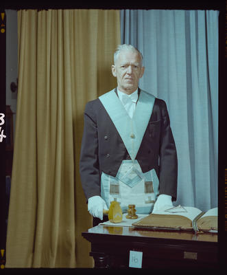 Negative: Worshipful Master J. R. De Lambert Freemason Portrait