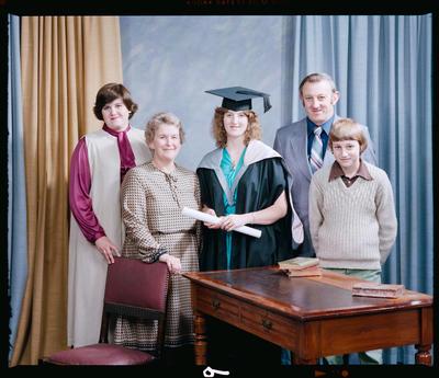 Negative: Mrs Fox Graduate and Family Portrait