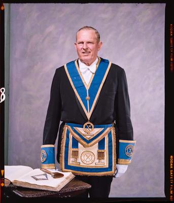 Negative: Mr C. White Freemason Portrait
