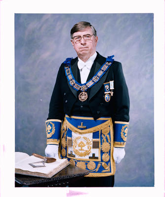 Negative: Mr Ken Carpenter Freemason Portrait
