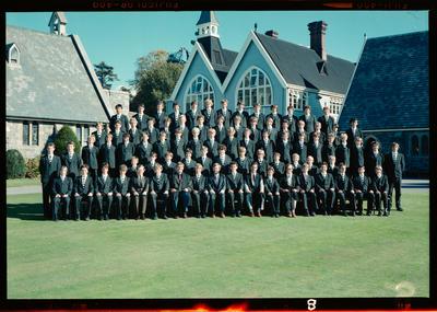 Negative: Christ's College Corfe House 1981