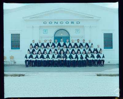 Negative: Concord Masonic Lodge Group Portrait