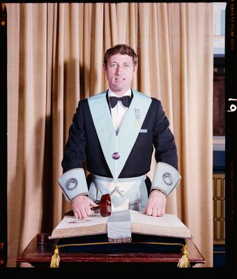 Negative: Mr Calvin Malan Freemason Portrait