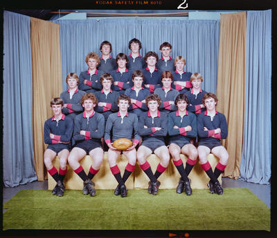 Negative: St Bede's Rugby Team 1981