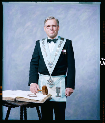 Negative: Mr Levett Freemason Portrait