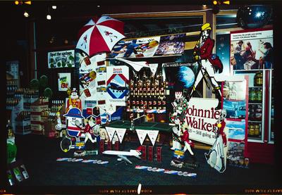 Negative: Bishopdale Tavern Johnnie Walker Display