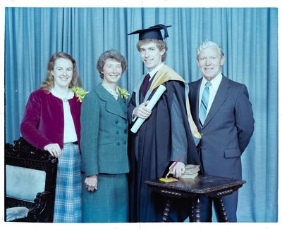 Negative: Mr Lawrence Kimberley Graduate and Family
