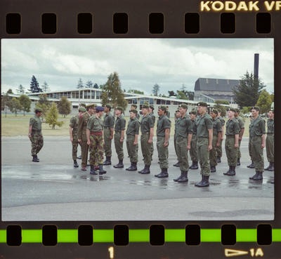 Negative: Burnham Camp Soldiers In Formation