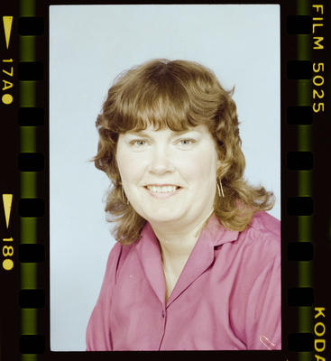 Negative: Dianne Nicholls Passport Photo
