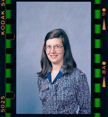 Negative: Mrs Porta Passport Photo
