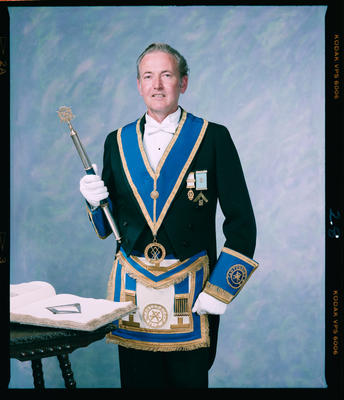 Negative: Mr I. N. Handley Freemason Portrait